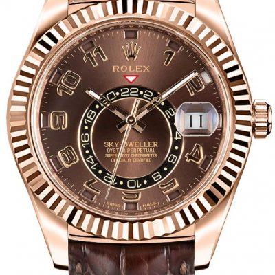 Rolex Sky-dweller 326135 Estuche para hombre 42 mm 18k Everose Gold