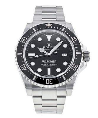 Rolex Sea-Dweller 116600 Reloj de acero para hombre de 40 mm con esfera negra