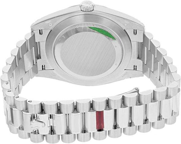 Rolex Day-Date 228206 Reloj para hombre con correa plateada y esfera azul de 40 mm