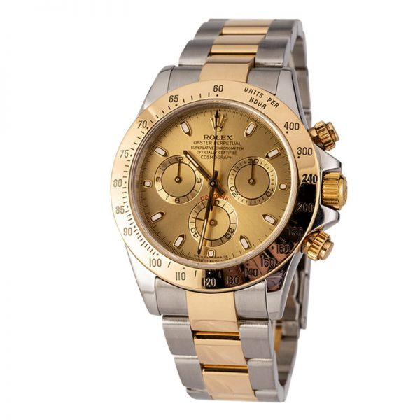 Rolex Daytona 116523 Reloj para hombre de acero con esfera color champán de 40 mm