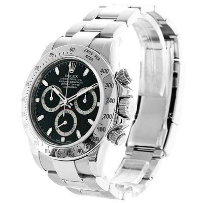 Rolex Daytona 116520 Reloj redondo para hombre de 40 mm con esfera negra