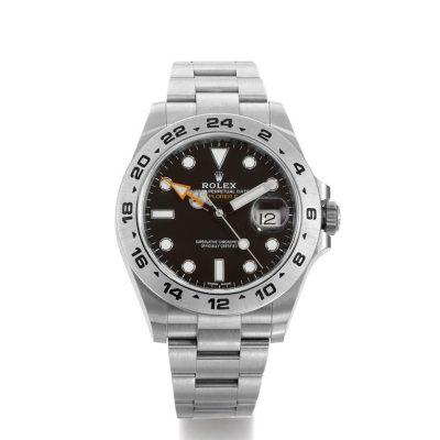Rolex Explorer II 216570 Reloj de acero para hombre de 42 mm con esfera negra
