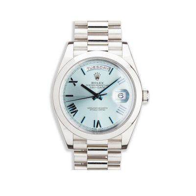 Rolex Day-Date 228206 Reloj automático para unisex de 40 mm azul glaciar