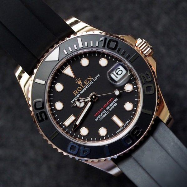 Rolex Yacht-Master 268655 Reloj automático unisex con esfera negra de 37 mm
